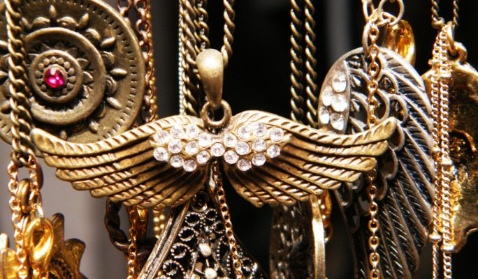 golden antique jewelery